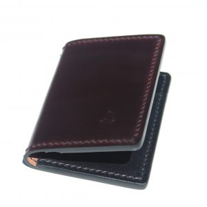 shell cordovan front pocket wallet
