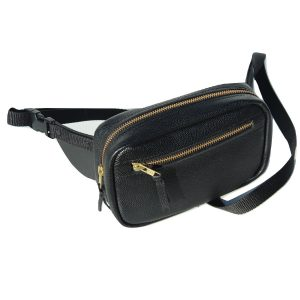 Leather waist bag